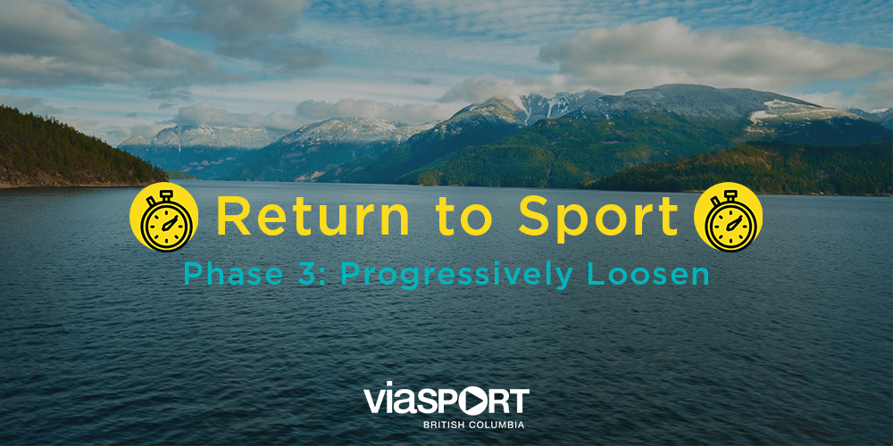 BC Return to Sport Phase 3: Progressively Loosen